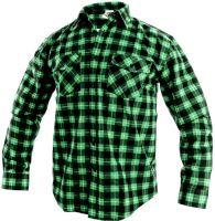 Košile flanelová TOM, zeleno-černá