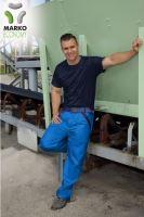 Kalhoty do pasu MARKO ECONOMY, azurově modré