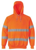 Mikina reflexní s kapucí Hi - Vis, oranžová