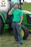 Kalhoty do pasu MARKO BASIC, šedo-zelené