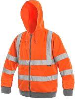Výstražná mikina s kapucí FROME, oranžová