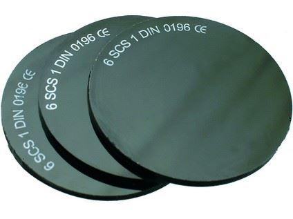 Sklo do svářečských brýlí, průměr 50mm, tmavost č.4 2223-T04