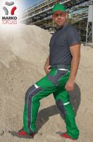 Kalhoty do pasu MARKO TOP CLASS, zeleno-šedé