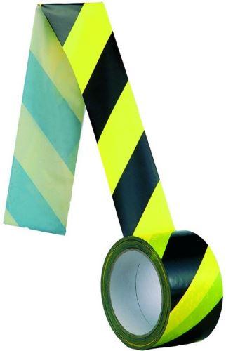 Samolepící páska normovaná, žlutočerná 60mm 3000-25