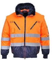 Bunda Hi-Vis 3v1, oranžovo-modrá
