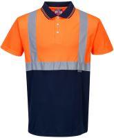 Dvoubarevná polokošile, oranžovo-modrá