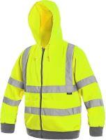 Výstražná mikina s kapucí FROME, žlutá