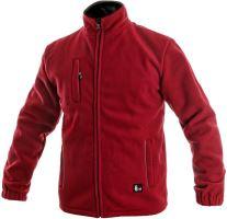 Bunda fleece OTAWA, červená