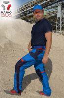 Kalhoty do pasu MARKO TOP CLASS, azurově modré, ZKRÁCENÉ