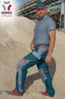 Kalhoty do pasu MARKO TOP CLASS, petrolejové