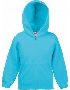 Classic Kids Hooded Sweat Jacket, azurově modrá