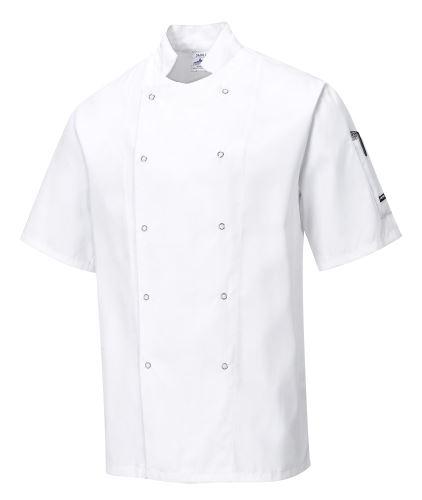 Kuchařský rondon CUMBRIA CHEFS, krátký rukáv