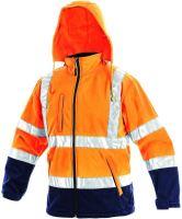 Výstražná bunda softshell DERBY, oranžová
