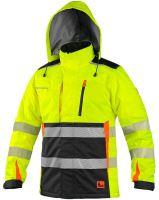 Výstražná zateplená bunda CXS BENSON, žluto-černá