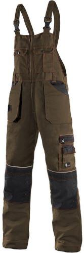 Kalhoty s laclem ORION KRYŠTOF, hnědo-černé