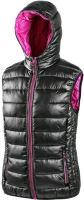 Vesta dámská s kapucí OMAK, černo-růžová