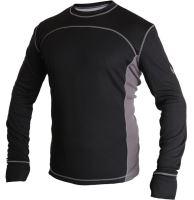 Termo triko dlouhý rukáv COOLDRY, černo-šedé