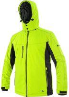 Zimní softshellová bunda CXS VEGAS, žluto-černá