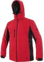 Zimní softshellová bunda CXS VEGAS, červeno-černá