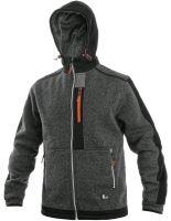 Pánská bunda z pleteniny INDIANAPOLIS, šedo-černo-oranžová