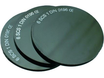 Sklo do svářečských brýlí, průměr 50mm, tmavost č.6 2223-T06