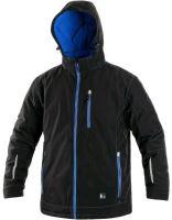 Zateplená softshellová bunda KINGSTON, černo-modrá