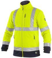 Bunda výstražná fleece CXS PRESTON, žluto-modrá