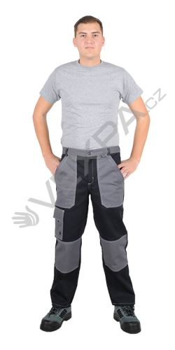 Kalhoty do pasu ALFA, černošedé,pd