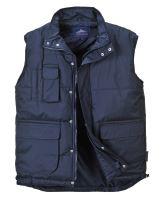 Zateplená vesta Classic S415, tmavě modrá