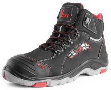 Kotníková obuv CXS ROCK DIORIT S3, černo-červená