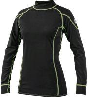 Funkční dámské triko REWARD s dlouhým rukávem, černo-zelené