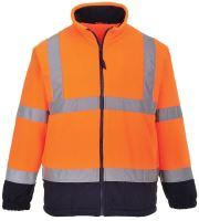 Bunda Hi - Vis fleece, oranžovo-modrá