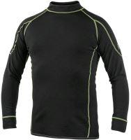 Funkční triko REWARD s dlouhým rukávem, černo-zelené