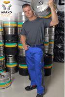 Kalhoty do pasu MARKO BASIC, modro-šedé