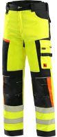 Kalhoty CXS BENSON výstražné, žluto-černé