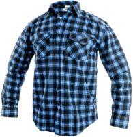 Košile flanelová TOM, modro-černá