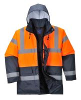 Reflexní bunda zateplená dvoubarevná, oranžová