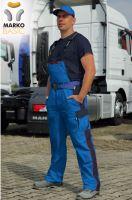 Kalhoty s laclem MARKO BASIC, azurově modré