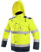 Výstražná bunda zateplená 2v1 LUTON, žluto-modrá